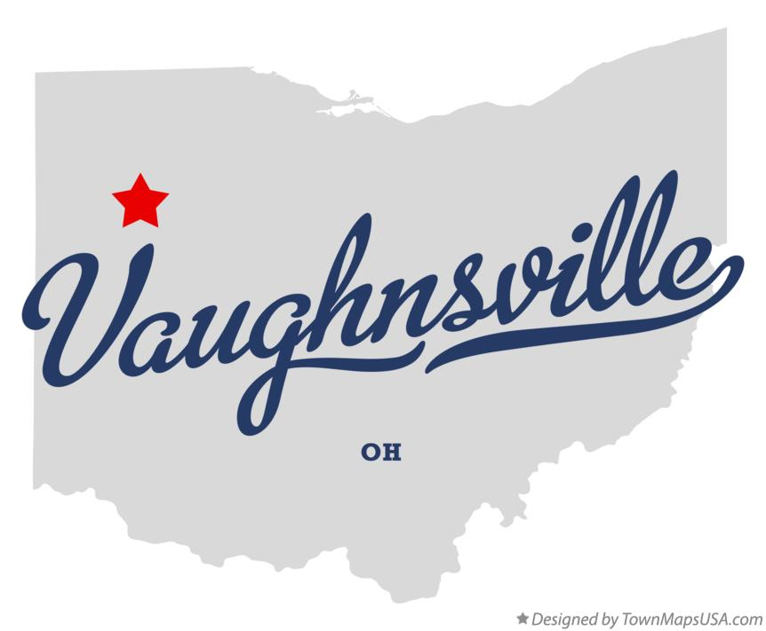 Map of Vaughnsville Ohio OH