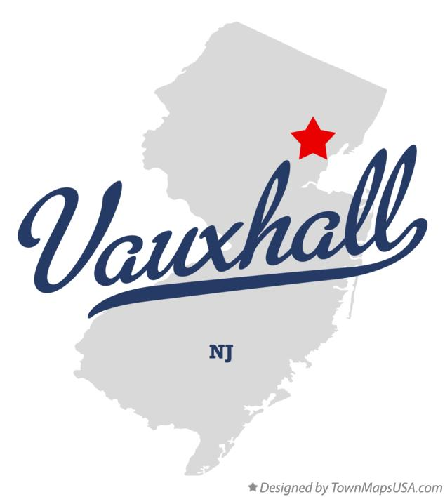 Map of Vauxhall New Jersey NJ