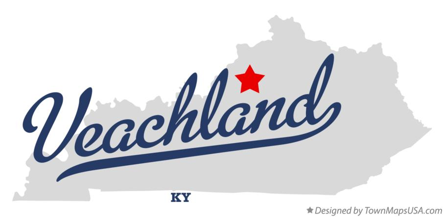 Map of Veachland Kentucky KY
