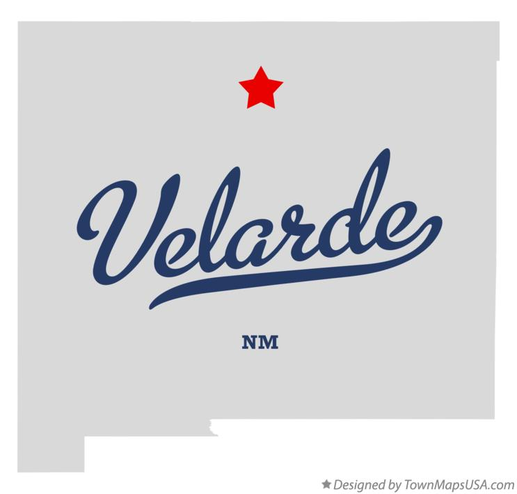 Map of Velarde New Mexico NM