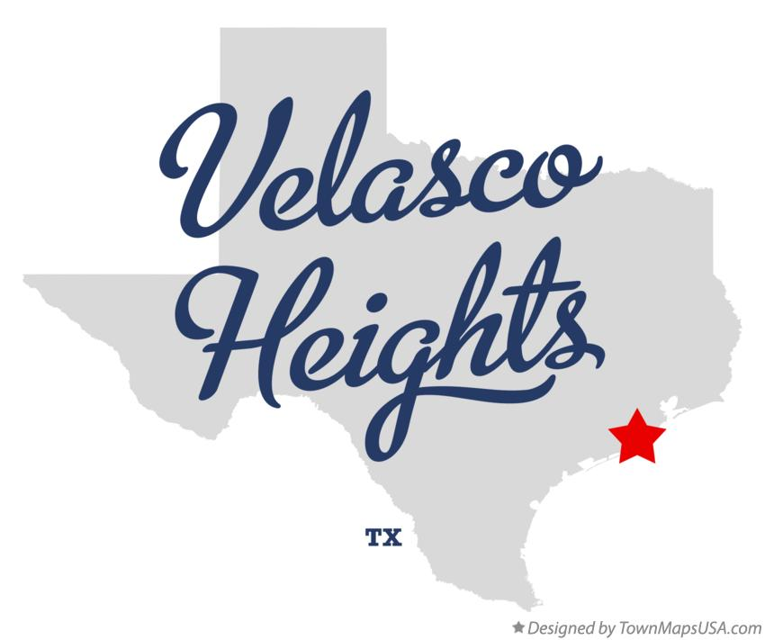Map of Velasco Heights Texas TX