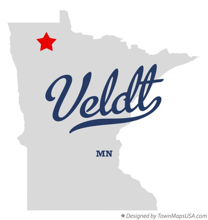 Map of Veldt Minnesota MN