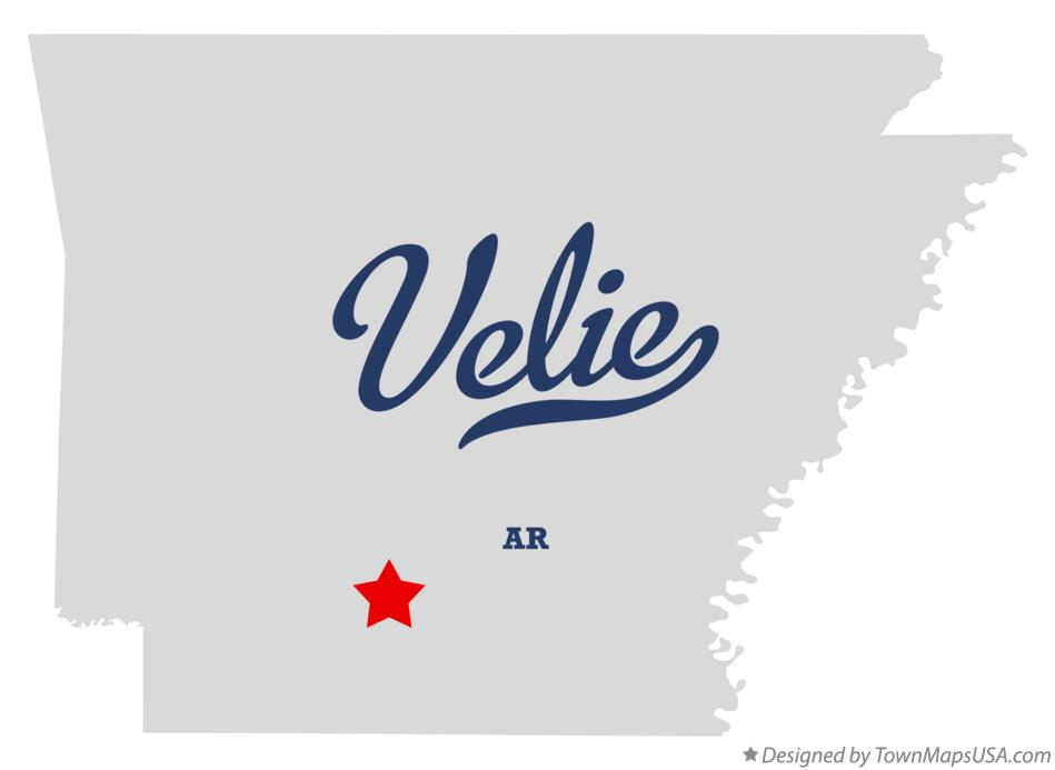 Map of Velie Arkansas AR