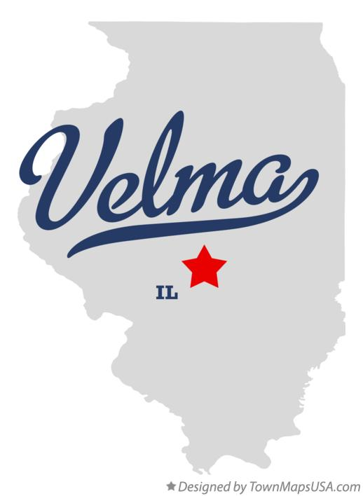 Map of Velma Illinois IL
