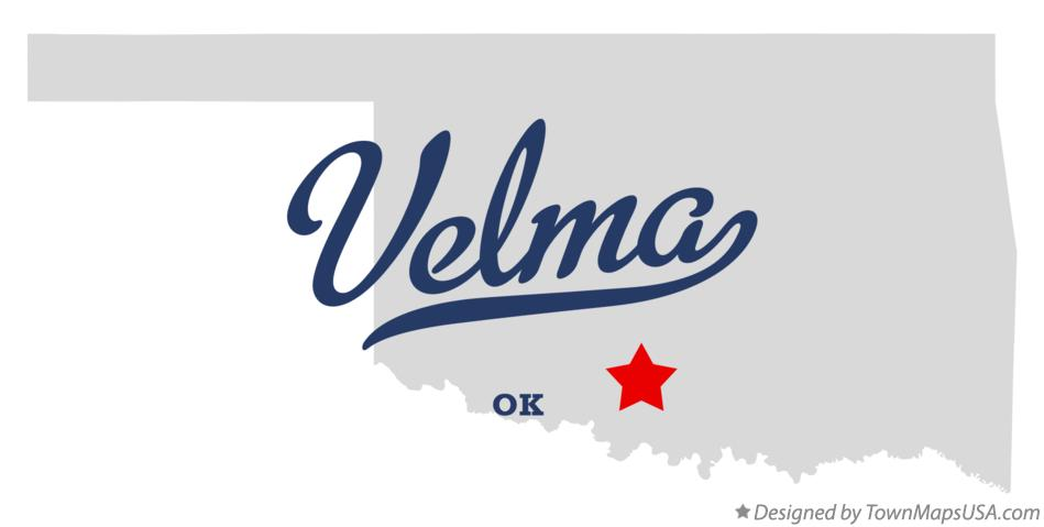 Map of Velma Oklahoma OK