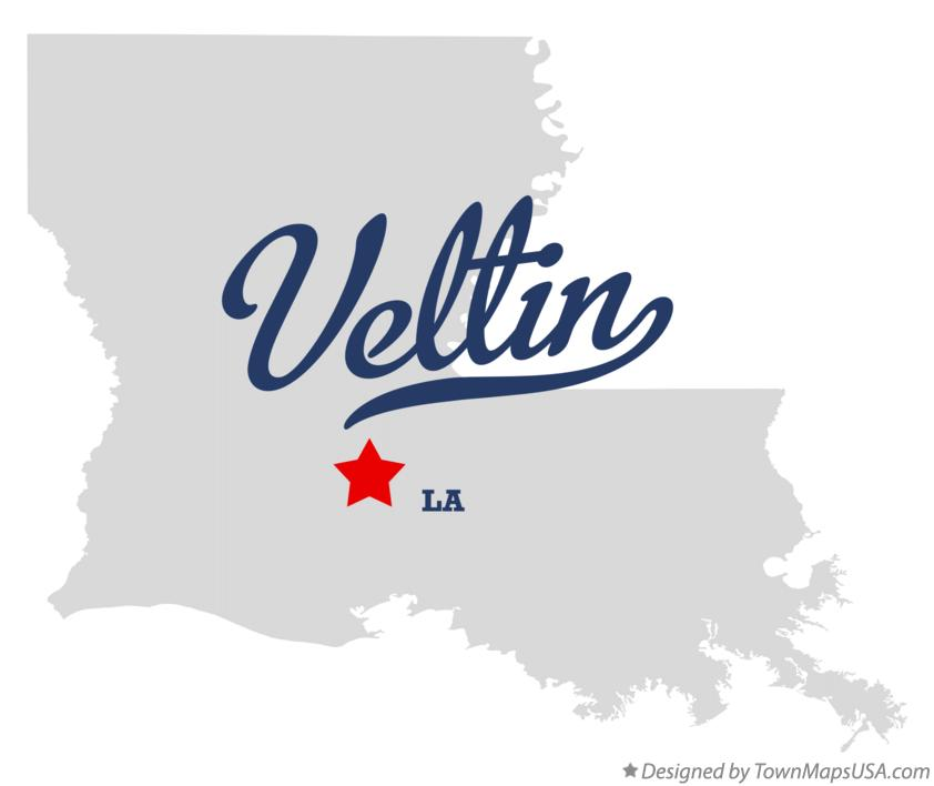 Map of Veltin Louisiana LA