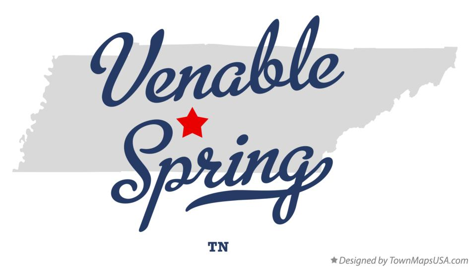 Map of Venable Spring Tennessee TN