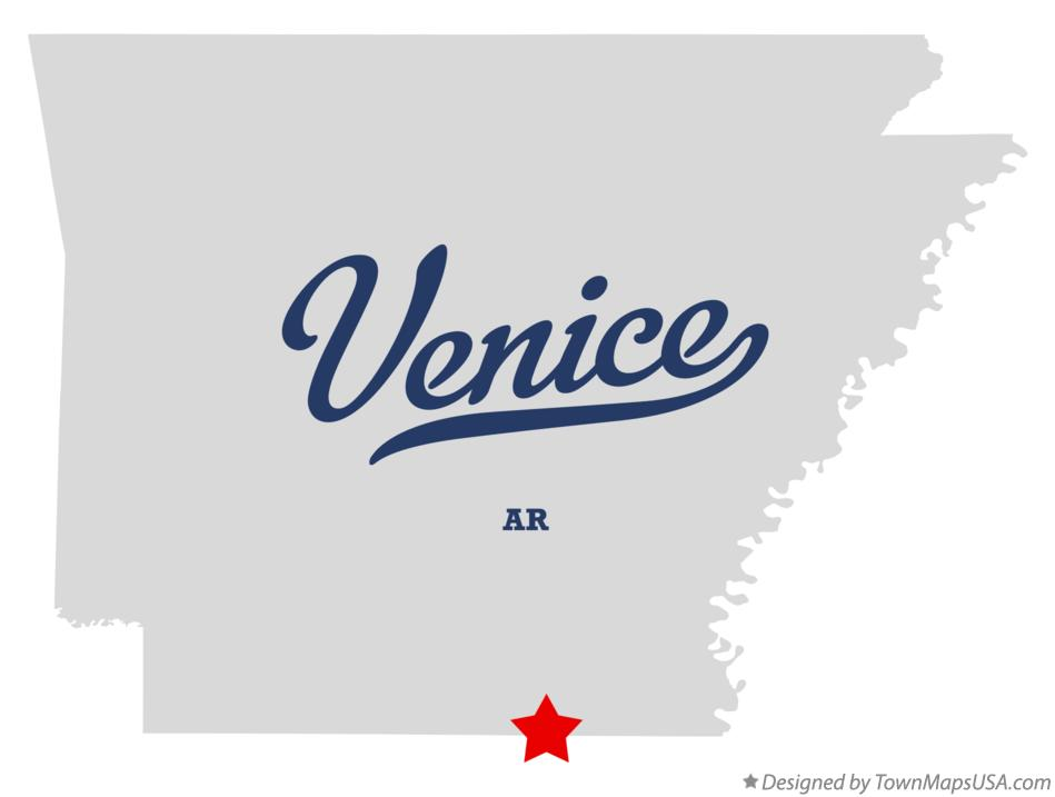 Map of Venice Arkansas AR