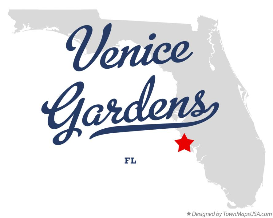 Map Of Venice Gardens Florida FL