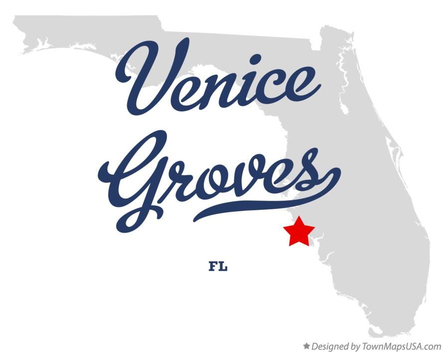 Map of Venice Groves Florida FL