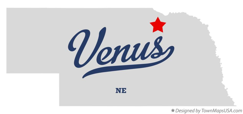 Map of Venus Nebraska NE