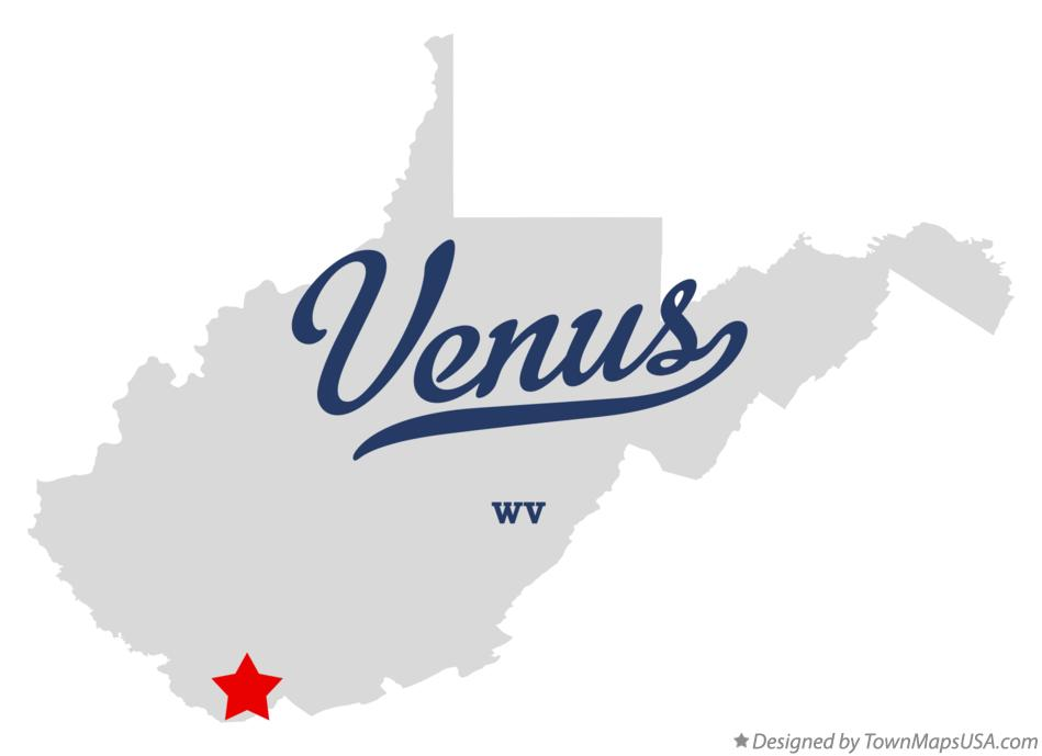 Map of Venus West Virginia WV