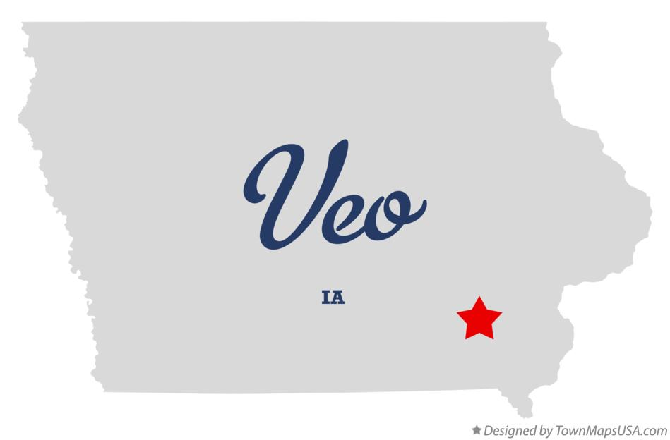 Map of Veo Iowa IA