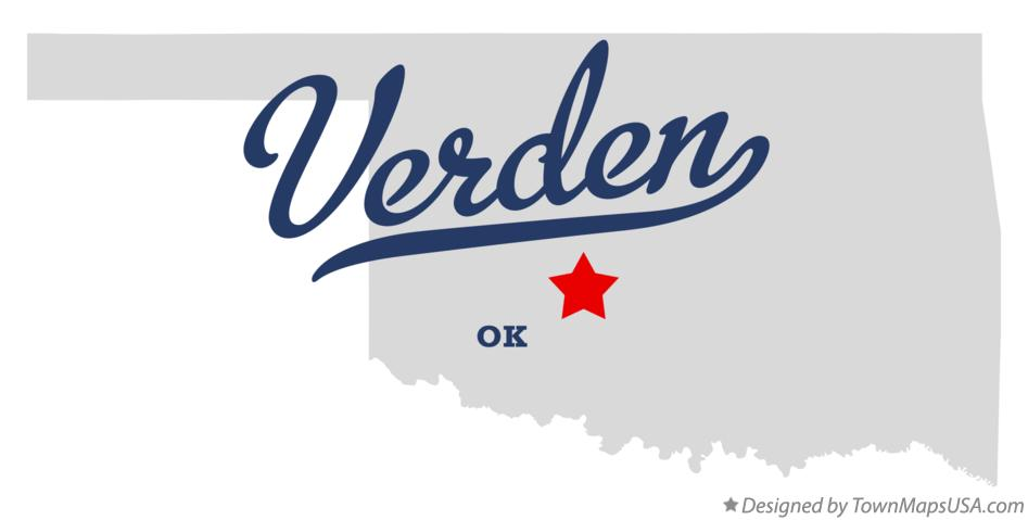Map of Verden Oklahoma OK