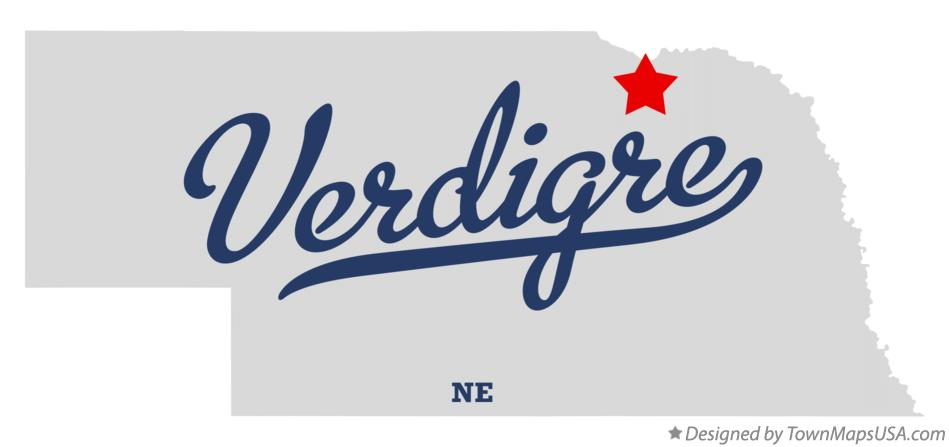 Map of Verdigre Nebraska NE