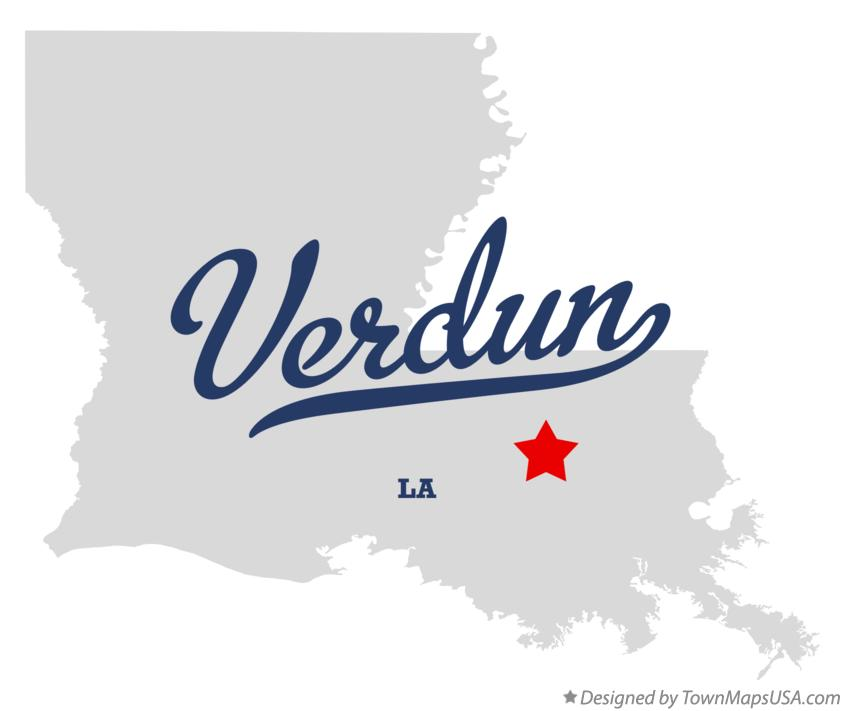 Map of Verdun Louisiana LA