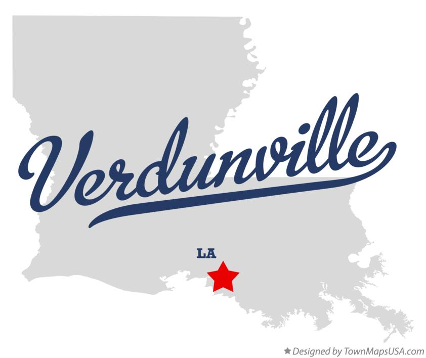 Map of Verdunville Louisiana LA