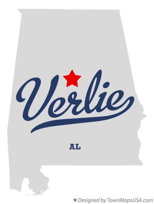 Map of Verlie Alabama AL