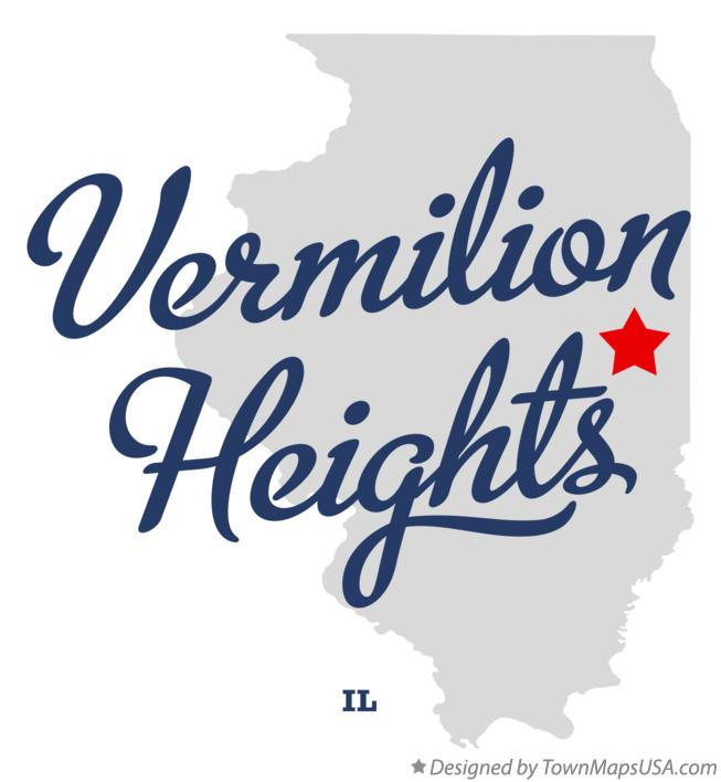 Map of Vermilion Heights Illinois IL