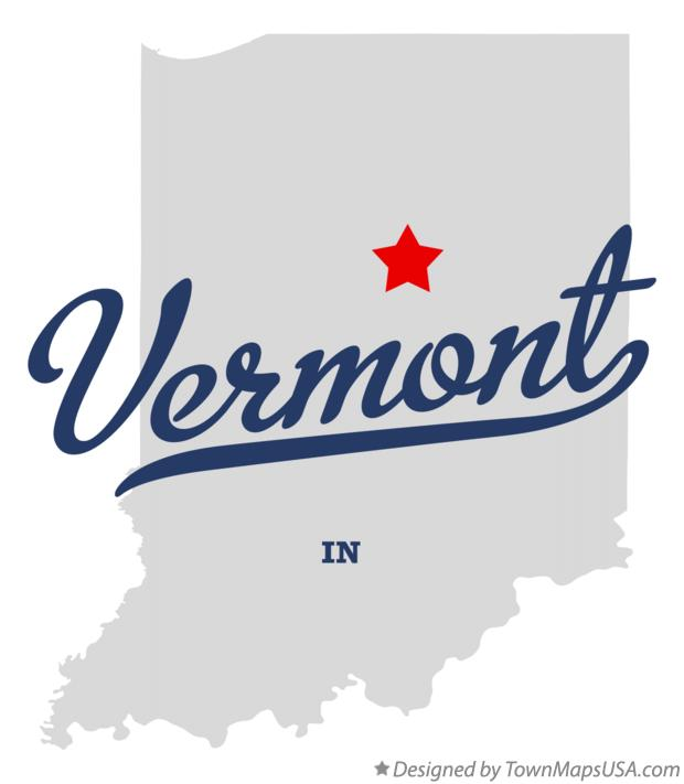 Map of Vermont Indiana IN