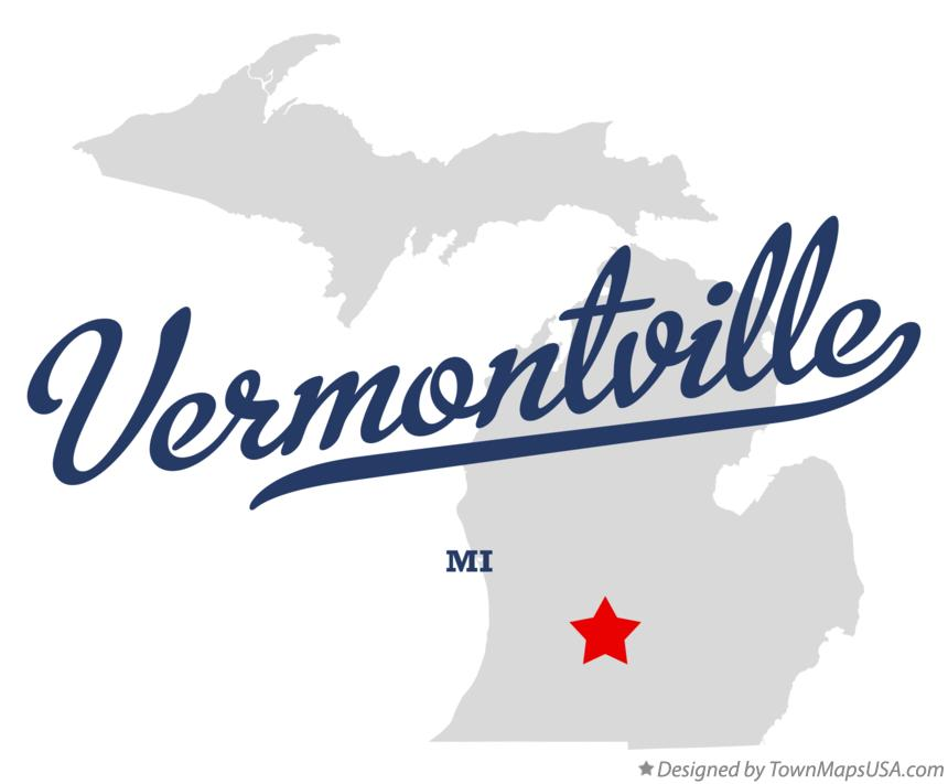 Map of Vermontville Michigan MI