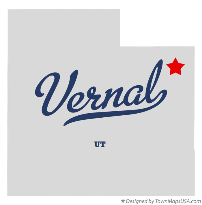 Map of Vernal Utah UT