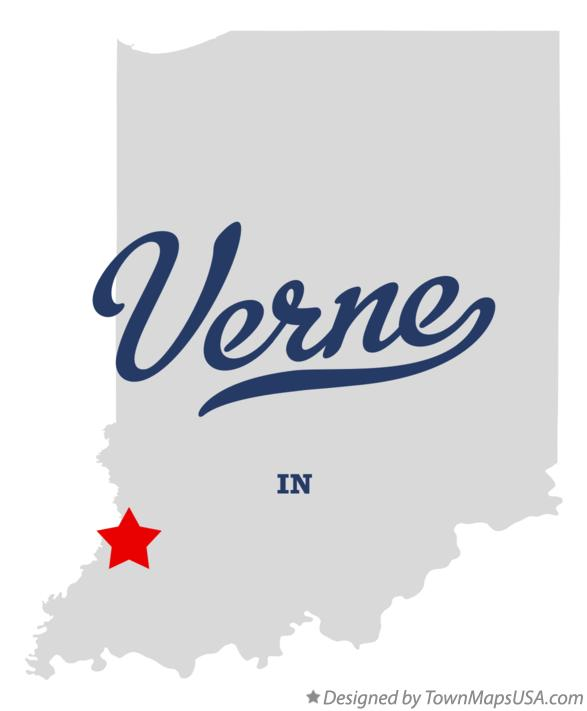 Map of Verne Indiana IN