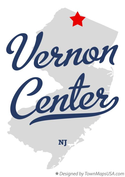 Map of Vernon Center New Jersey NJ