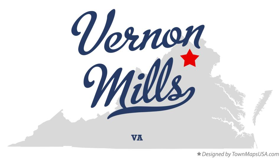 Map of Vernon Mills Virginia VA