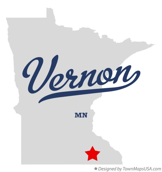 Map of Vernon Minnesota MN