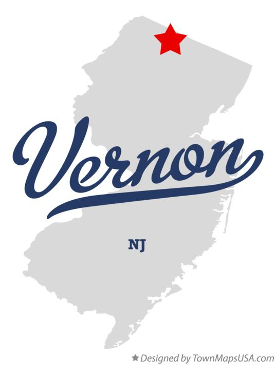 Map of Vernon New Jersey NJ