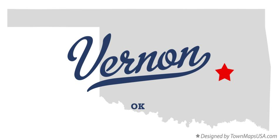 Map of Vernon Oklahoma OK