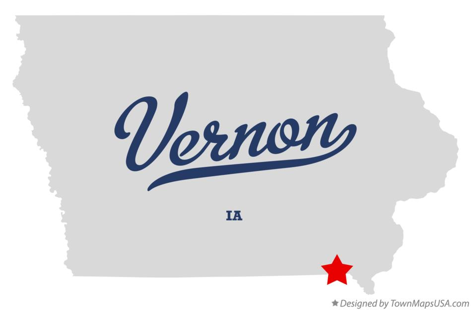 Map of Vernon Iowa IA