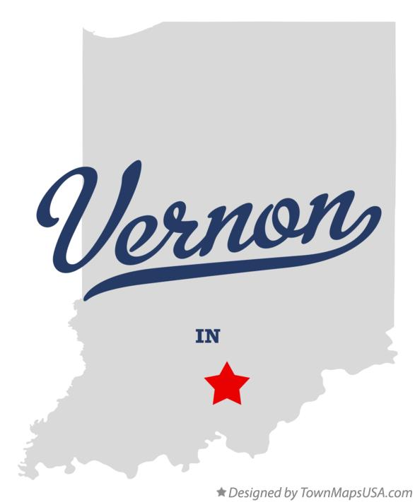 Map of Vernon Indiana IN
