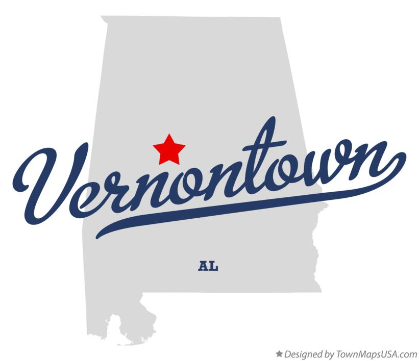 Map of Vernontown Alabama AL