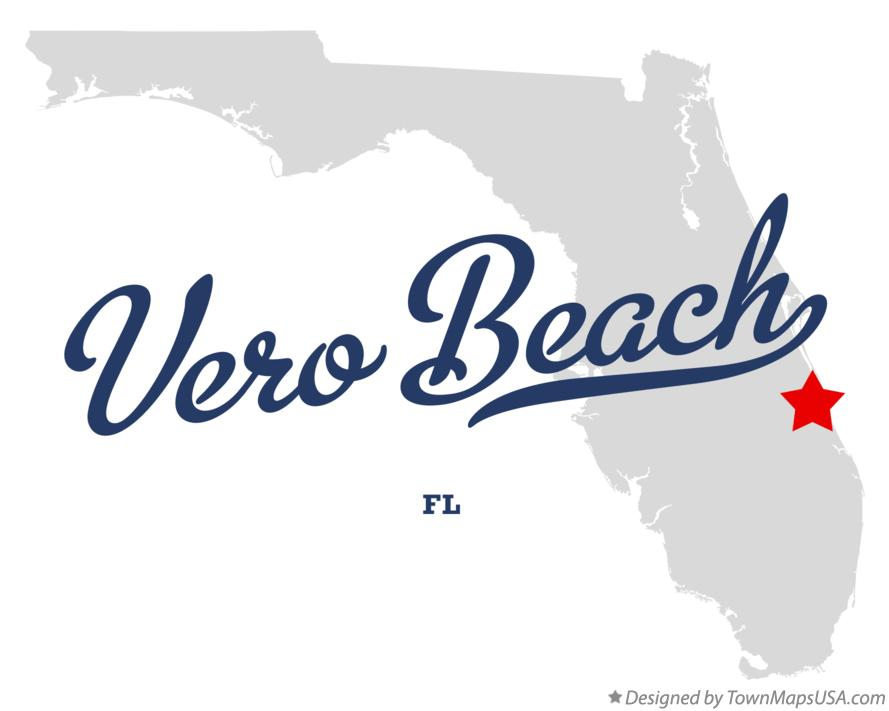 Map Of Vero Beach FL Florida - Vero beach florida map