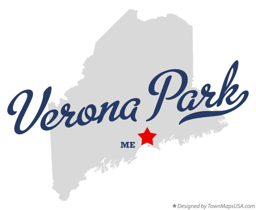 Map of Verona Park Maine ME