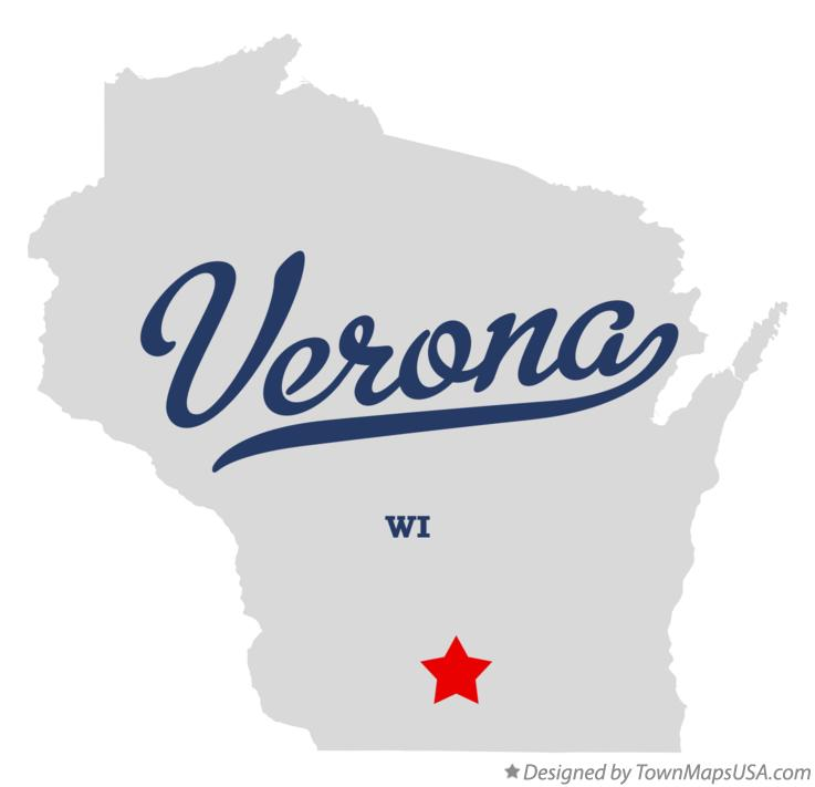 Map of Verona Wisconsin WI