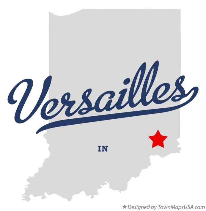 Map of Versailles Indiana IN