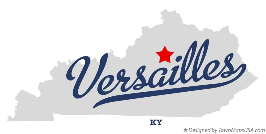 Map of Versailles Kentucky KY