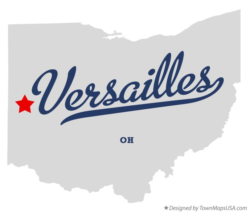 Map of Versailles, OH, Ohio