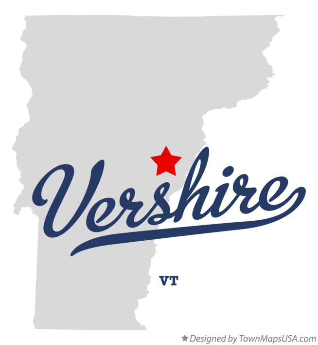 Map of Vershire Vermont VT