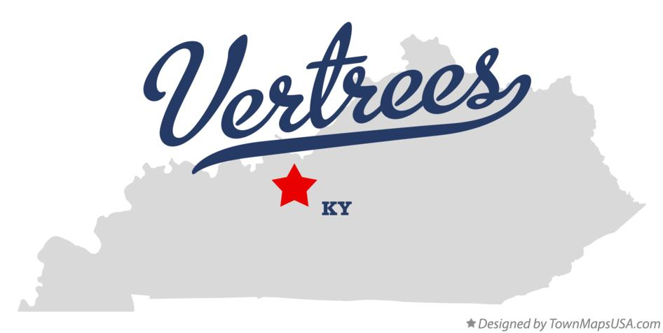 Map of Vertrees Kentucky KY