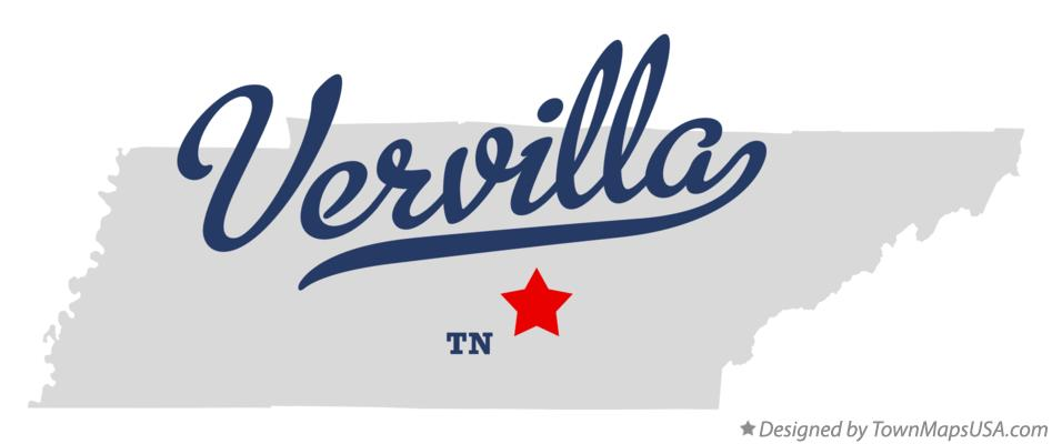Map of Vervilla Tennessee TN