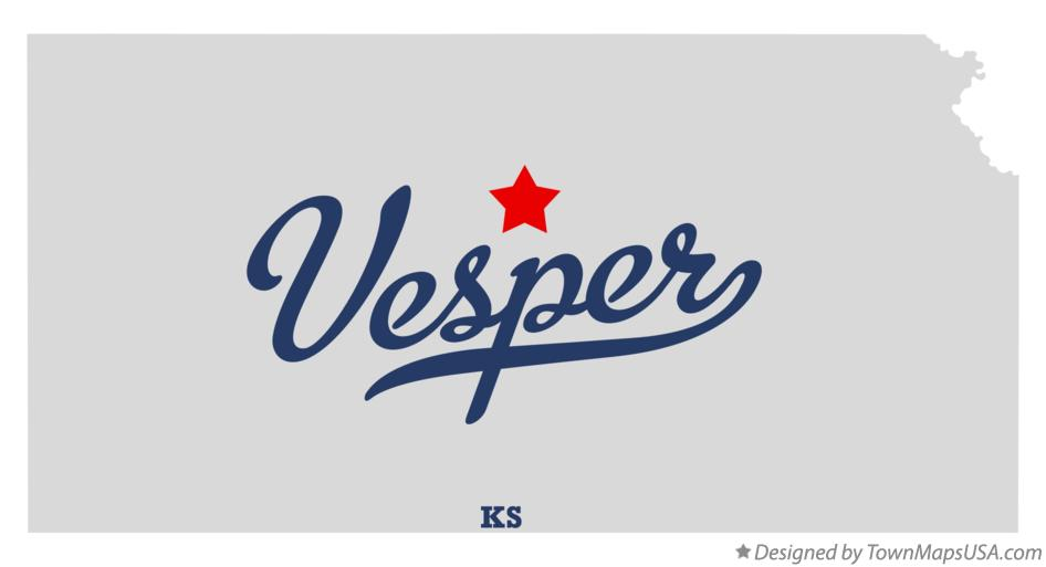 Map of Vesper Kansas KS