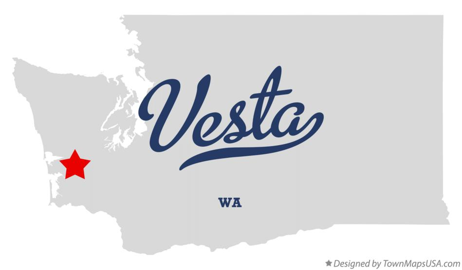 Map of Vesta Washington WA