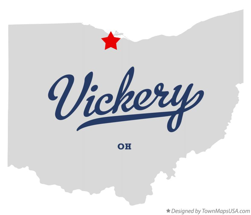 Map of Vickery Ohio OH