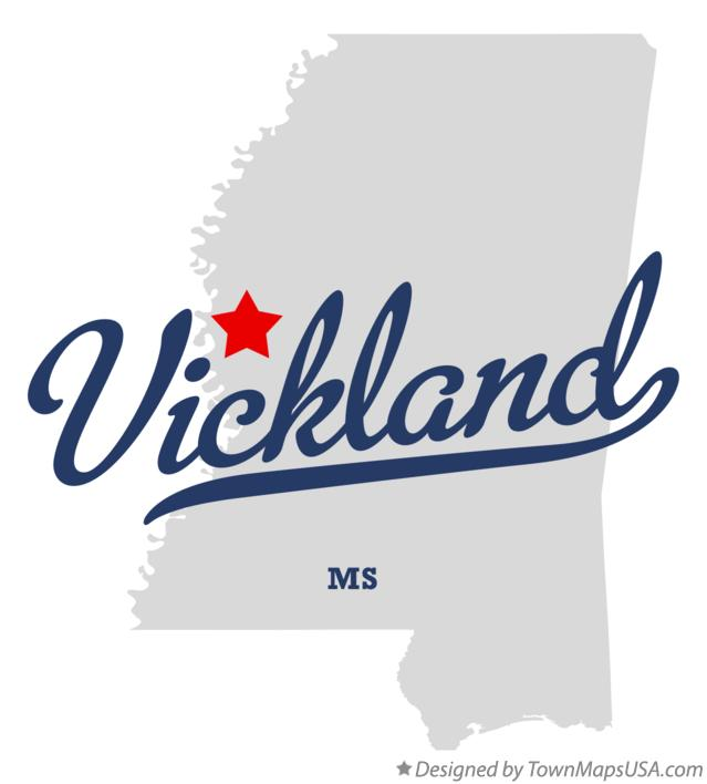 Map of Vickland Mississippi MS