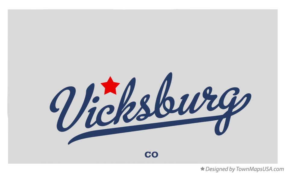Map of Vicksburg Colorado CO