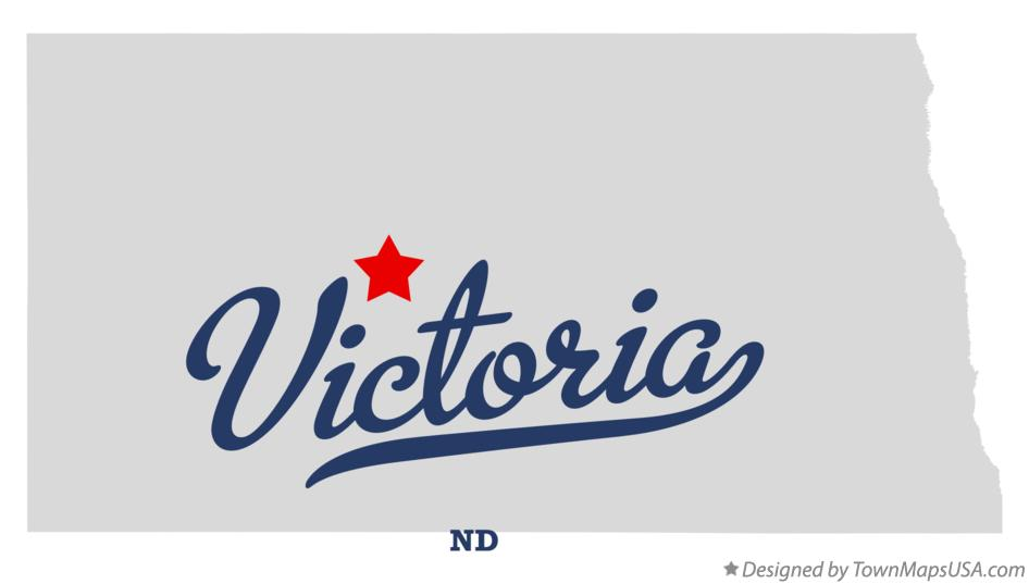 Map of Victoria North Dakota ND